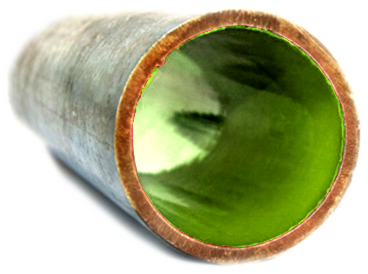 An after image of a pipe relining