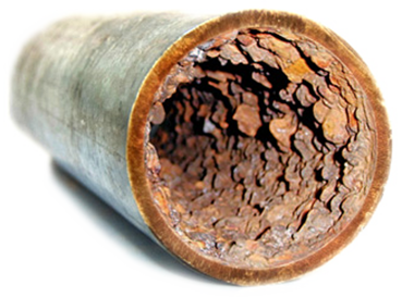 A before image of a pipe relining